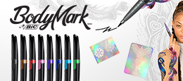 Feeling like expressing yourself ? Let's have some fun with our BodyMark temporary tattoo pens.
