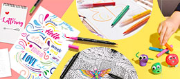 Draw, color, create... Discover your inner artist thanks to our large range of dedicated products.