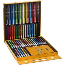BIC Kids Activity Case - 24 Colouring Pencils/24 Felt Pens/16 Crayons/36 Colouring Stickers