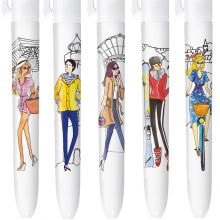 4 Colours Limited Editions - Holidays in France - Box of 5 pens