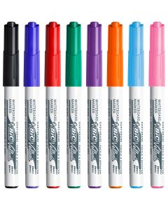BIC Velleda 1741 Whiteboard Pens Medium Bullet Nib - Assorted Colours, Pack of 8