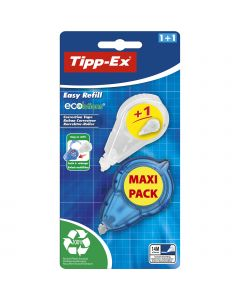 Tipp-Ex Easy Refill ECOlutions Correction Tape - 14 M x 5 mm, Blister of 1 + 1 Refill