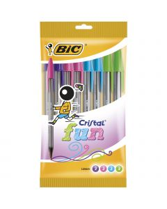 BIC Cristal Fun Stylos-Bille Pointe Large (1