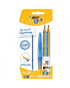 BIC Kids Learners' Kit - 1 Ball Pen/1 Refill/2 Graphite Pencils/1 Eraser, Pack of 5