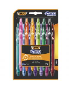 BIC Gel-ocity Quick Dry Stylos-Gel Rétractables Pointe Moyenne (0