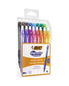 BIC Gel-ocity Original Stylos Gel Rétractables Pointe Moyenne (0