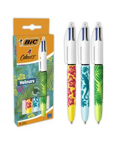 BIC 4 Couleurs Velours Stylos-Bille Pointe Moyenne (1