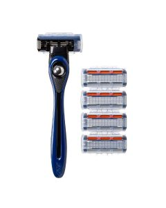 BIC Shave Club 5 Blades Neo -  Starter Kit - 1 Blue handle + 4 Refills of 5-blades razor cartridges